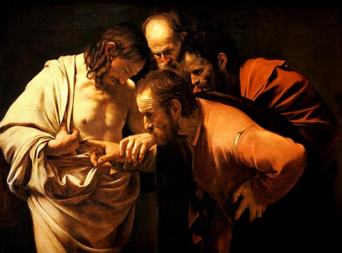 Caravaggio's The Incredulity of Saint Thomas (1601-2)