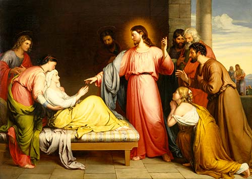 Christ Healing the Mother of Simon Peter's Wife by John Bridges