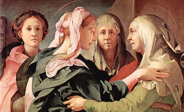 Jacopo Pontormo - Visitation (detail)