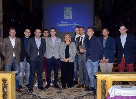 President of Malta together with members of the Joy Boys Group